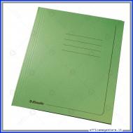 Cartelline 3 lembi 25 cartelle manilla Verde 295 gr con alette per ufficio Esselte 55136