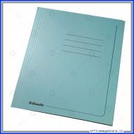 Cartelline 3 lembi 25 cartelle manilla Azzurro 295 gr con alette per ufficio Esselte 55135