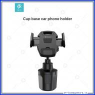 Supporto porta telefono auto smartphone regolabile da vano porta bicchiere DEVIA in elegante colore nero