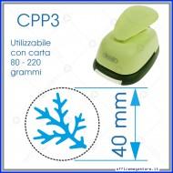 Fustella a leva per carta perforatore craft punch fustelle per fustellare sagome di cartoncino forma Ramo di Pino 40 mm CPP315