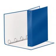 Raccoglitore Meeting 4 Anelli Tondi mm.30 in PP Rivestito Colore Blu Metallizzato - 579296
