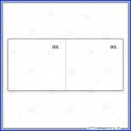 Scontrino Numerato 100 Fogli a 2 Sezioni Colore Bianco Gruppo Buffetti DU160000010