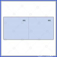 Scontrino Numerato 100 Fogli a 2 Sezioni Colore azzurro Gruppo Buffetti DU160000040