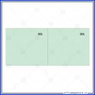 Scontrino Numerato 100 Fogli a 2 Sezioni Colore Verde Gruppo Buffetti DU160000090