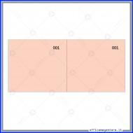Scontrino Numerato 100 Fogli a 2 Sezioni Colore Rosso Gruppo Buffetti DU160000020