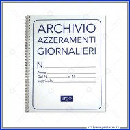 Cartella per Archivio Azzeramenti Giornalieri 13 pagine per 6 scontrini Gruppo Buffetti 1820AZT00