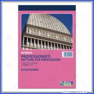 Fatture per Prestazioni Professionali Blocco di 50 moduli a 2 Copie Autoricalcanti Gruppo Buffetti DU1654C0000