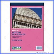 Fatture Una Aliquota Blocco A5 33 moduli tre copie autoricalcanti Modulistica Gruppo Buffetti Data Ufficio DU16413C330