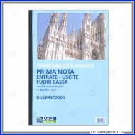 Prima Nota Entrate Uscite Fuori Cassa moduli A4 autoricalcanti in duplice copia modulistica Gruppo Buffetti DU1683C0000
