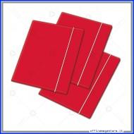 Cartellina a 3 Lembi Con Elastico Rosso 26x35cm 450g Blasetti 2402