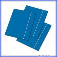 Cartellina a 3 Lembi Con Elastico Blu 26x35cm 450g Blasetti 2403