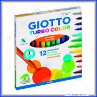Pennarelli Turbo Color astuccio confezione da 12 Giotto 416000