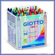 Pastelli a cera da 96 pezzi in barattolo Ø8,5mm 90mm Giotto 523600