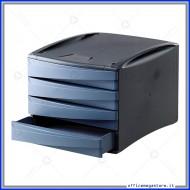 Cassettiera G2D carta da zucchero con 4 cassetti Alti in plastica Fellowes 0019201