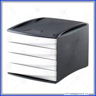 Cassettiera G2D bianco con 4 cassetti Alti in plastica Fellowes 0019101