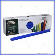 Dorsini triangolari blu 11mm plastici per rilegatura confezione da 30 pz Fellowes D111BL