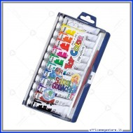 Astuccio Tempera 12 Tubetti assortiti da 12 ml Toy Color 728