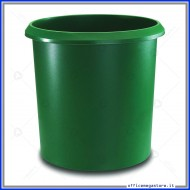 Cestino rotondo gettacarte Verde 18 litri con manico Lebez 26501