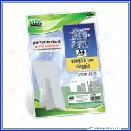 Portadepliant  Formato A4 in PVC semirigido appendibile ò da appoggio Lebez 5254