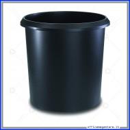 Cestino rotondo gettacarte Nero 18 litri con manico Lebez 26506