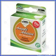 Angolino Adesivo ideale per attaccare fotografie da album scatolo 200 pezzi Lebez 180L