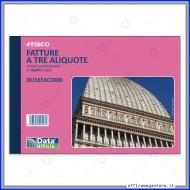 Fatture Tre Aliquote Blocco A5 50 moduli a due copie autoricalcanti Modulistica Gruppo Buffetti DU1651C0000