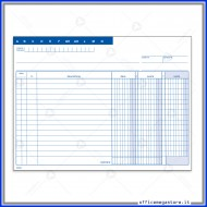 Scheda Dare-Avere Saldo (con busta) 200g - Gruppo Buffetti 155910000