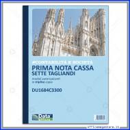 Primanota Cassa sette tagliandi (Entrate-Uscite,Partite fuori Cassa) triplice copia formato A4 Gruppo Buffetti DU1684C3300
