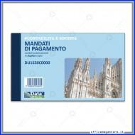 Mandati di Pagamento (Ordini da Pagare) Gruppo Buffetti DU1630C0000