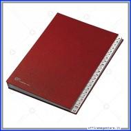 Classificatore Alfabetico ad una Colonna in Dermoide 22 Scomparti Formato 24x34 Dorso a Soffietto Fraschini 640-E
