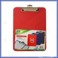Portablocco Rosso in PVC Formato A4 con Clip fermafogli in Metallo e Gancio per Appendere Lebez 7712