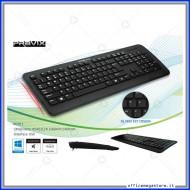 Tastiera QWERTY ergonomica slim con cavo USB 2.0 Pravix WKB911IT