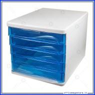 Cassettiera Blu con 5 cassetti Alti in plastica Wiler DC005B