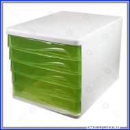 Cassettiera Verde con 5 cassetti Alti in plastica Wiler DC005V