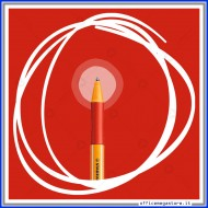 Penna a sfera colore rossoPointball con meccanismo a scatto tratto Medio 0.5 mm Stabilo 6030/40