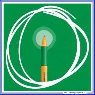 Penna a sfera colore verde Pointball con meccanismo a scatto tratto Medio 0.5 mm Stabilo 6030/36