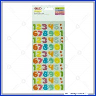 Puffy stickers adesivi in rilievo a forma di numeri assortiti Wiler STKPUF08