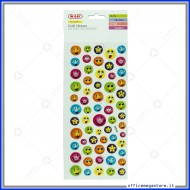 Puffy stickers adesivi in rilievo a forma di Smile assortiti Wiler STKPUF01