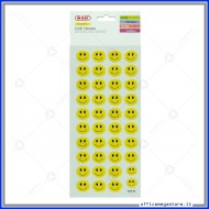 Puffy stickers adesivi in rilievo a forma di Smile Wiler STKPUF02