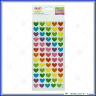 Puffy stickers adesivi in rilievo a forma di cuore assortiti Wiler STKPUF03