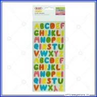 Puffy stickers adesivi in rilievo a forma di Alfabeto Wiler STKPUF07