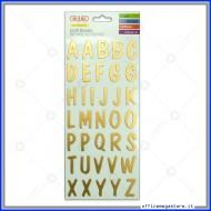 Stickers adesivi in rilievo a forma di Alfabeto metallizzato colore oro Wiler ALP30G