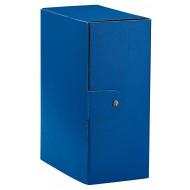 Cartella Portaprogetti Blu - Dorso 15 cm - Chiusura a Bottone - C3505