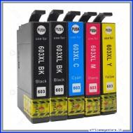 Epson T603XL inkjet cartridge Kit da 2 Nero + 1 Magenta + 1 Cyano + 1 Giallo cartuccie compatibili alta capacità