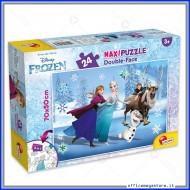Puzzle frozen supermaxi 24 pezzi 70x50 cm double face 2 in 1 Disney Giochi Giuseppe Lisciani 74075
