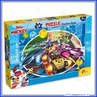 Puzzle Mickey Mouse supermaxi 24 pezzi 70x50 cm double face 2 in 1 Disney Giochi Giuseppe Lisciani 74099
