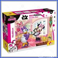 Puzzle Minnie supermaxi 24 pezzi 70x50 cm double face 2 in 1 Disney Giochi Giuseppe Lisciani 74068