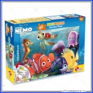 Puzzle Nemo supermaxi 60 pezzi 70x50 cm double face 2 in 1 Disney Giochi Giuseppe Lisciani 48243