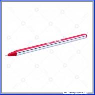 Barattolo da 50 Penne a Sfera Line Colore Rosso Punta Media fusto esagonale bicolore con tappo Wiler BP02R