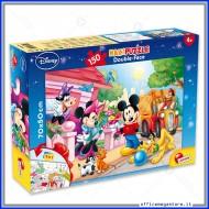 Puzzle Mickey Mouse supermaxi 150 pezzi 70x50 cm double face 2 in 1 Disney Giochi Giuseppe Lisciani 48328